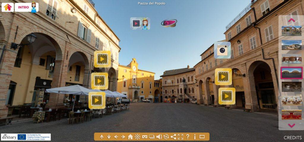 virtual tour piazza del popolo del comune di fermo